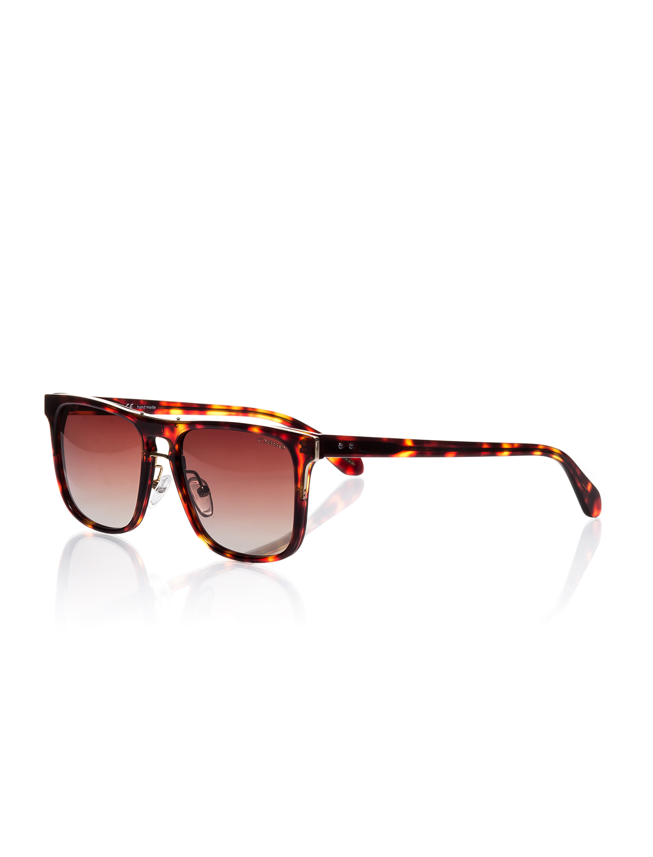 Unisex Patterned Brown Plastic Sunglasses