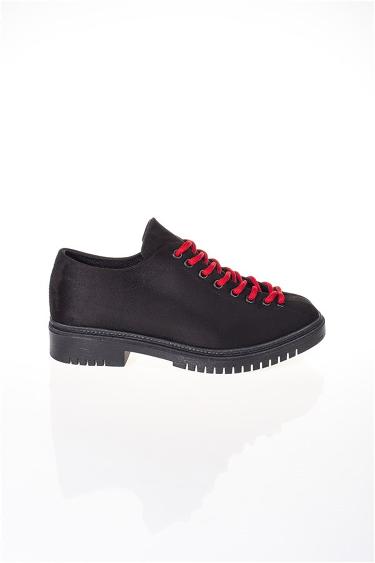 Women's Lace-up Black Shoes