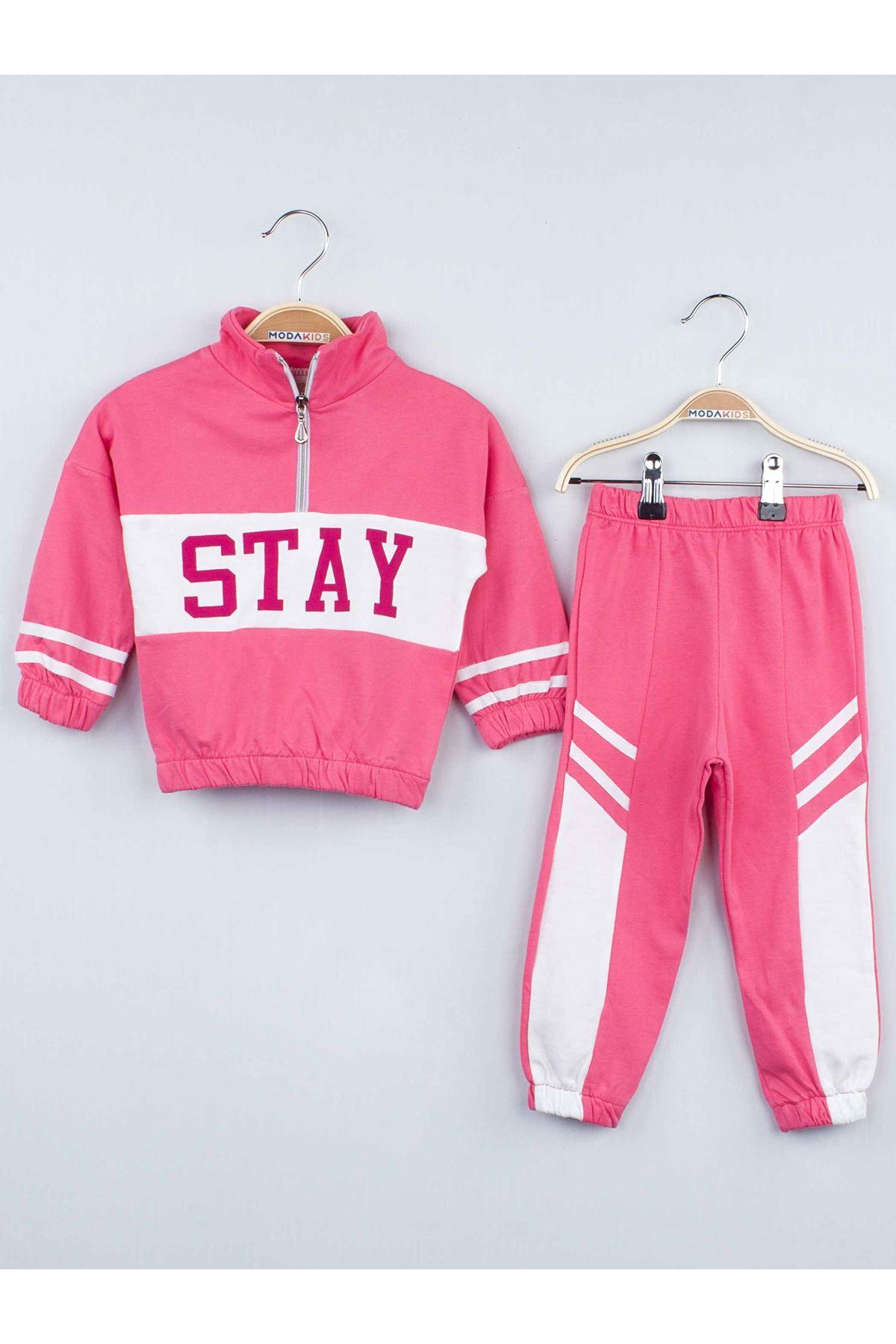 Girl's Pink Seasonal Tracksuit