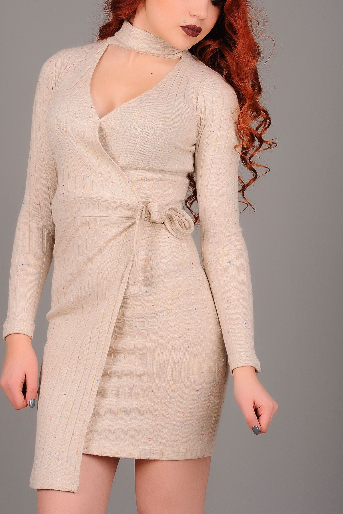 Vavin WRAP DRESS – Beige