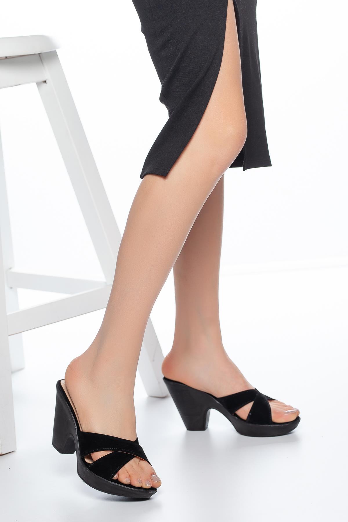 Women's Summer Heeled Slippers
