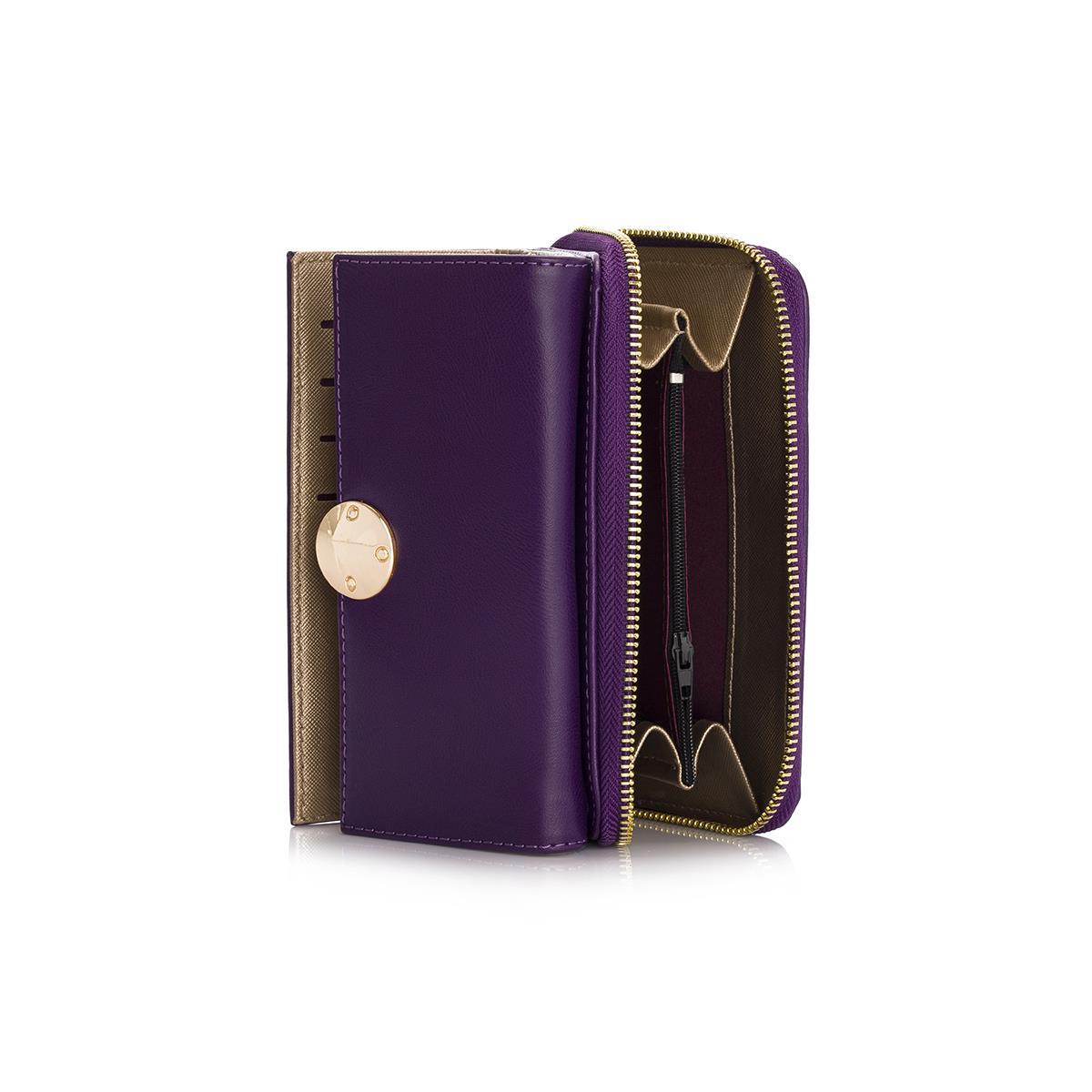 Women's Zipped Purple Wallet