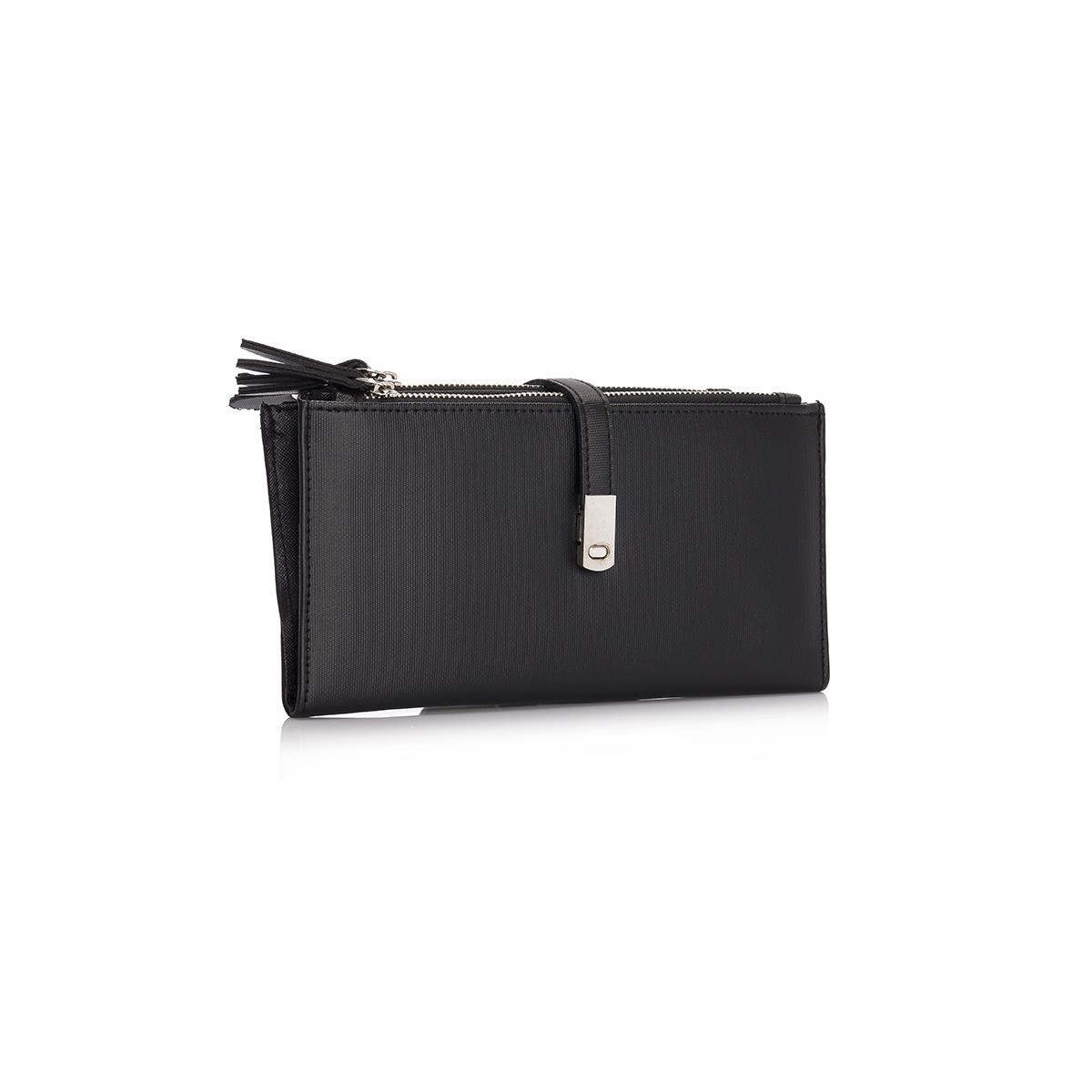 Women's Zipped Black Wallet