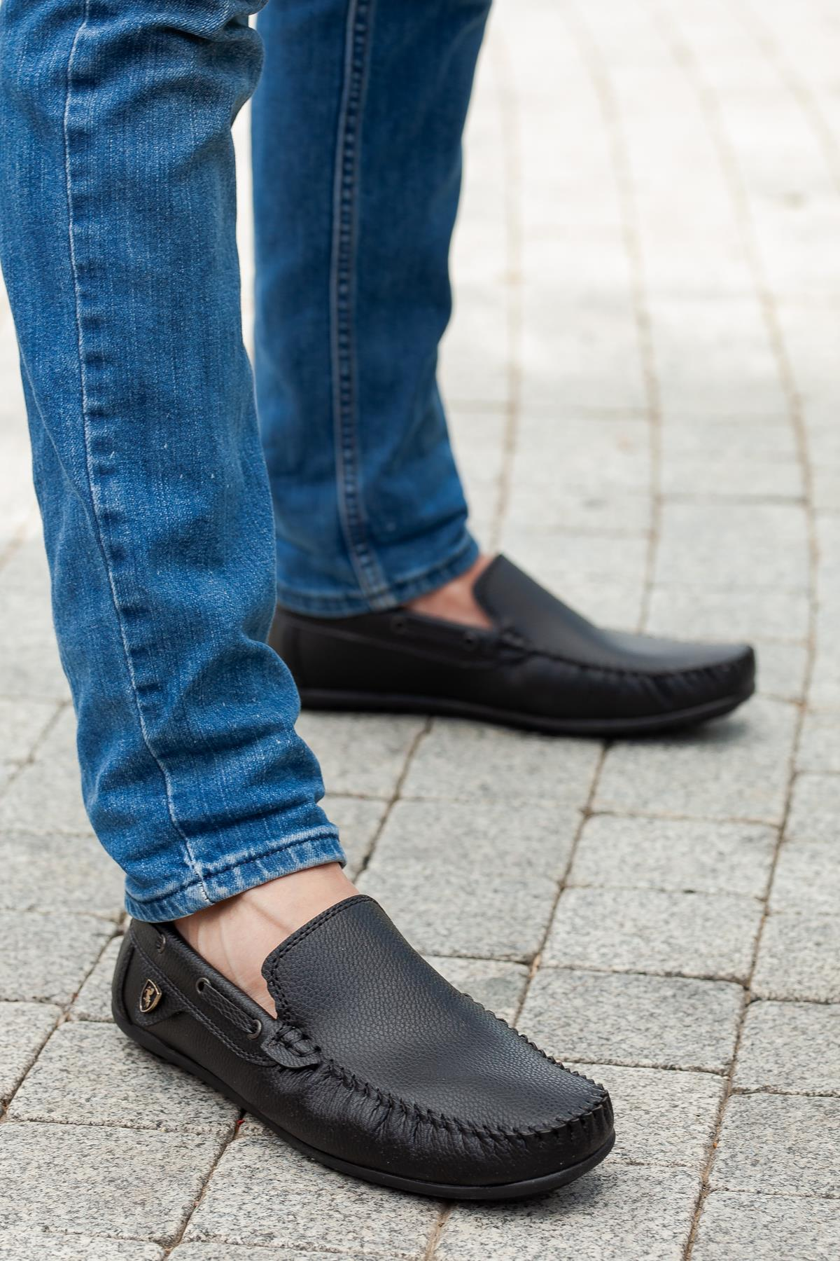 Men's Black Orthopedic Shoes
