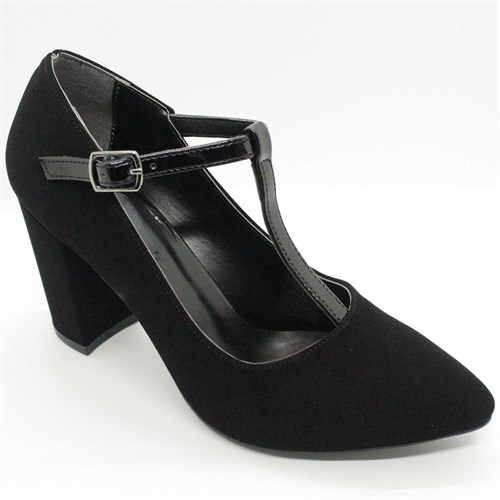 Women's Ankle Strap Thick Heeled Shoes