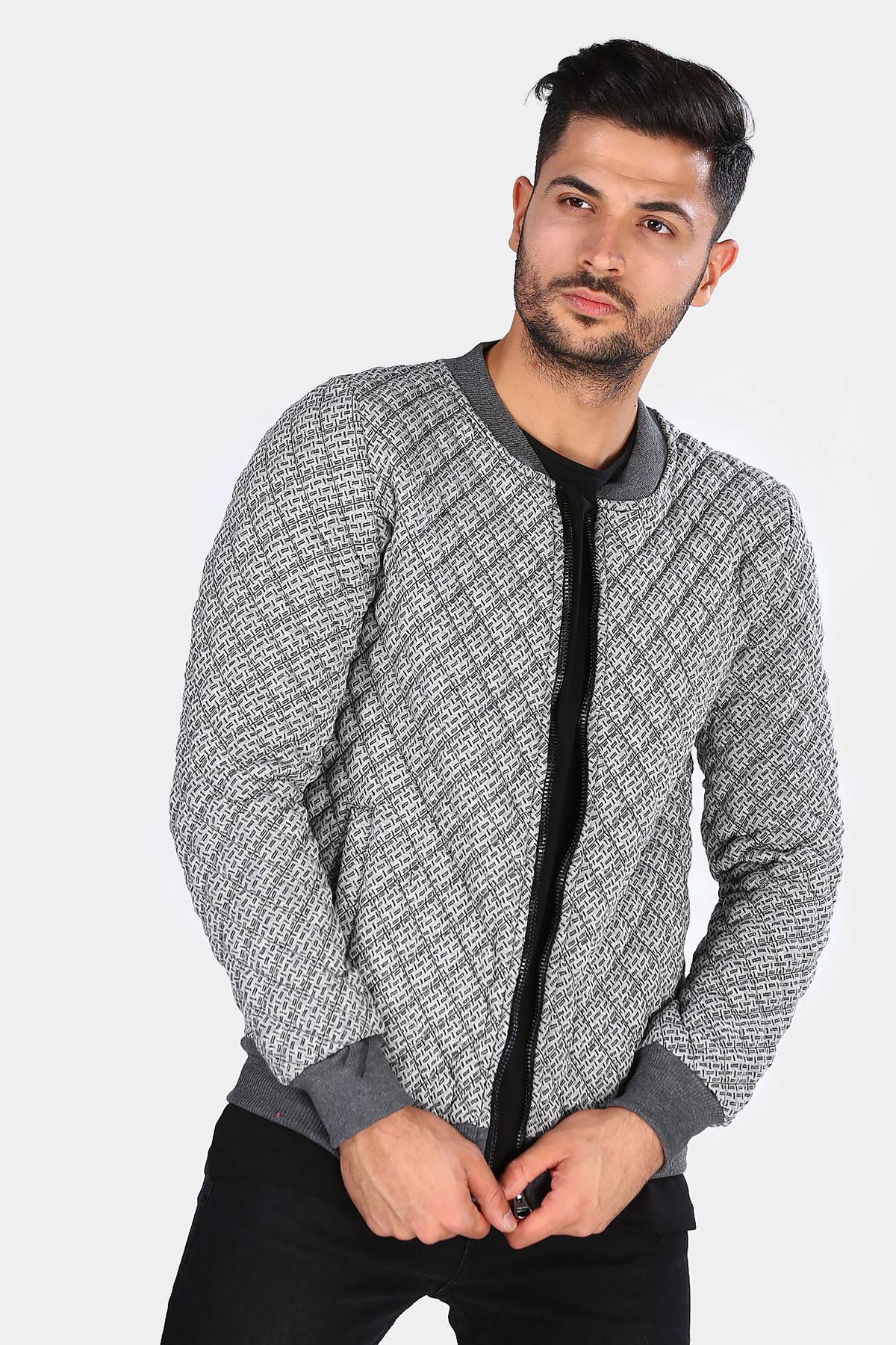 Men's Zipped Gray Jacket
