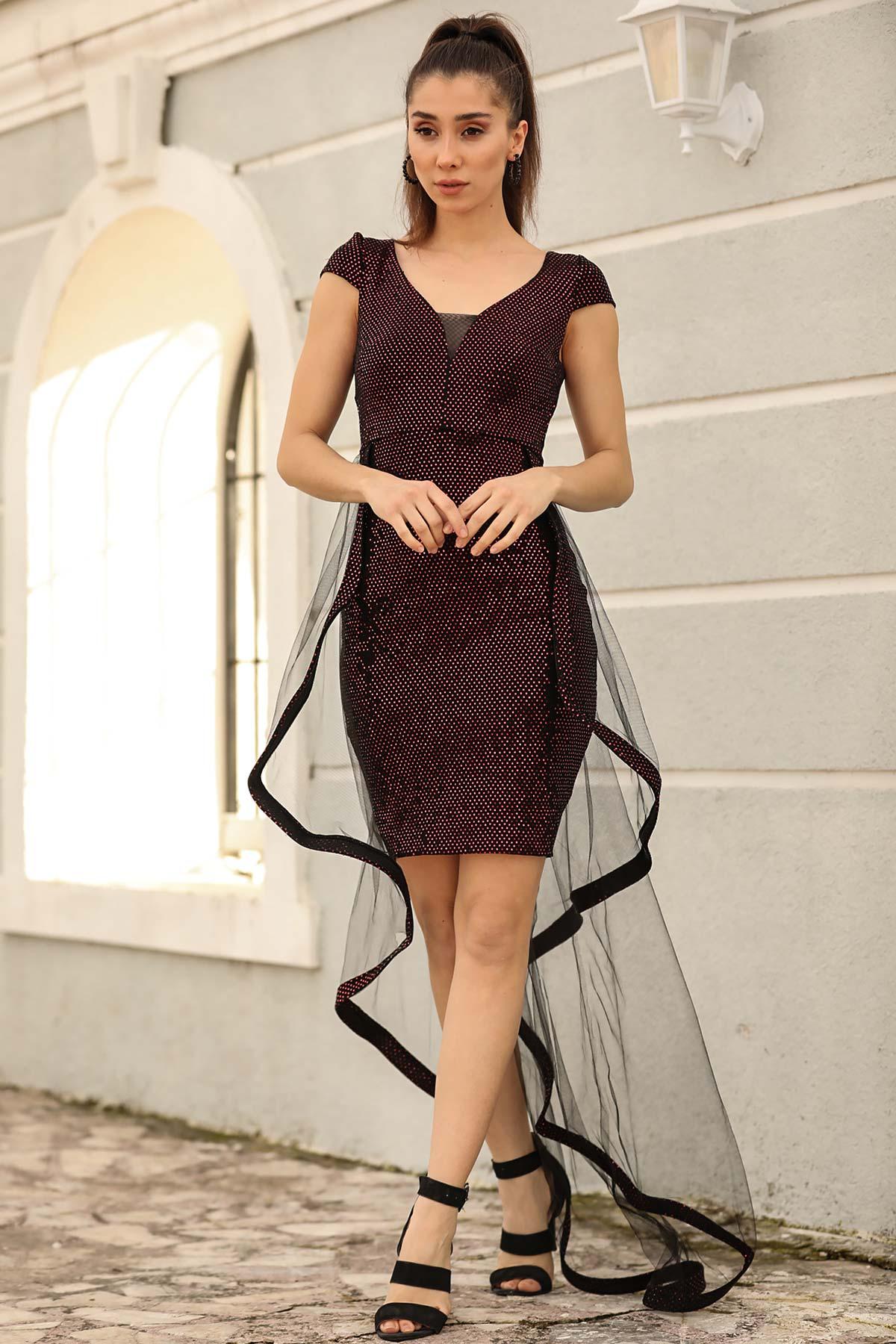 Women's Sequin Red Dress