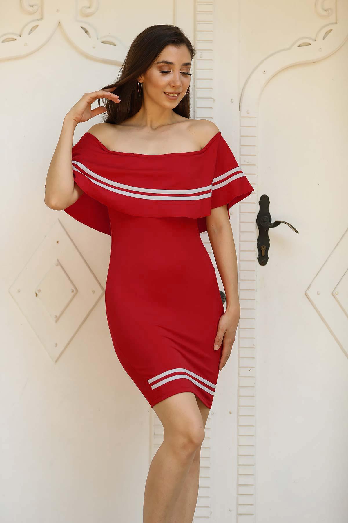Women's Off Shoulders Red Dress