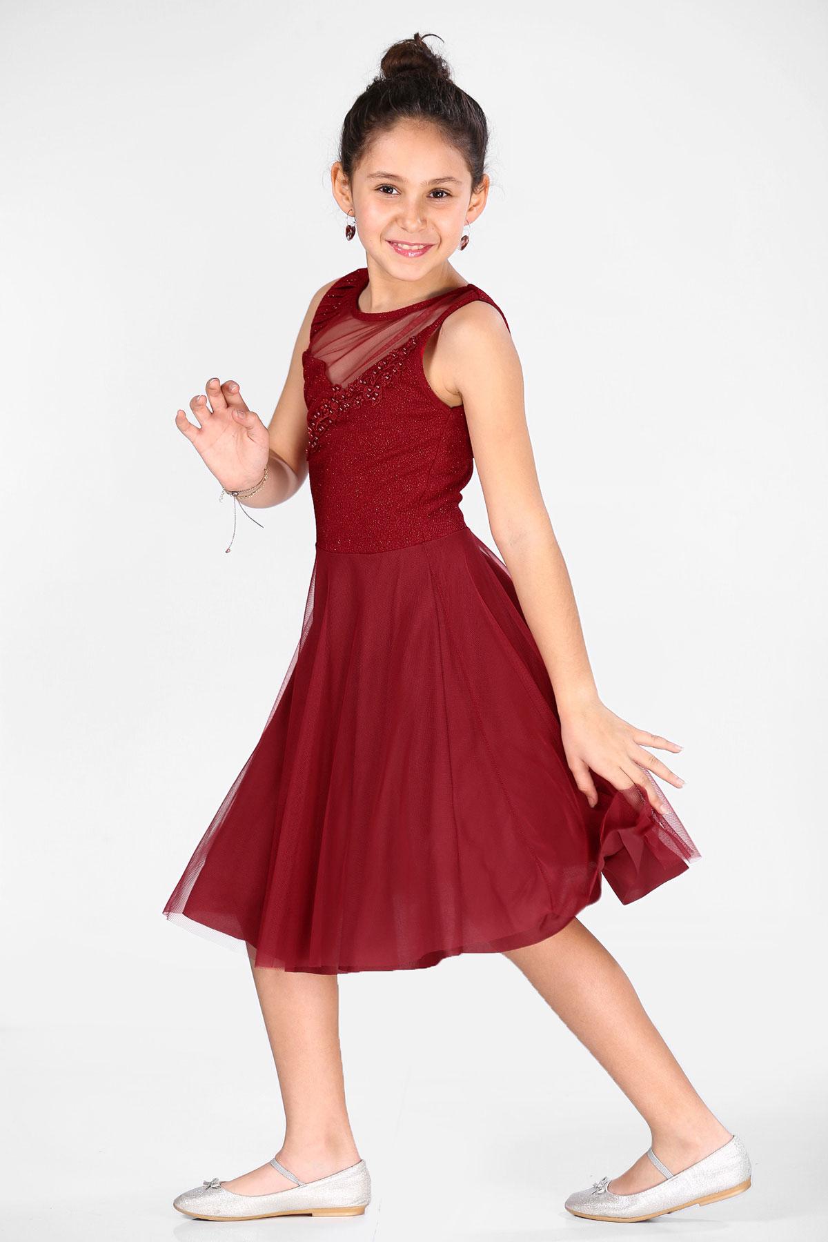 Girl's Red Evening Dress
