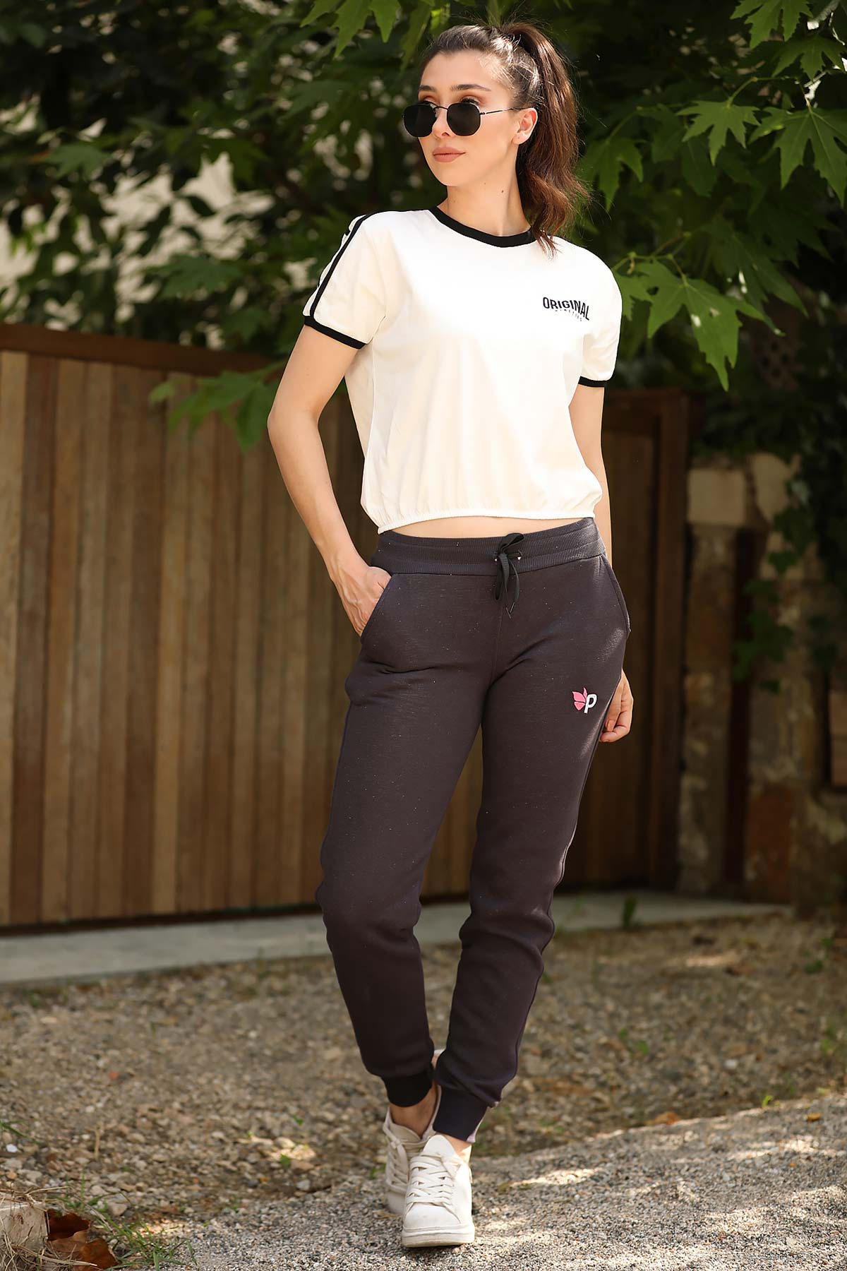 Skinny Leg Smoky Thermal Sweatpants