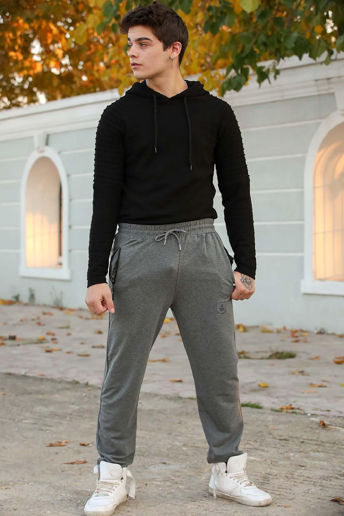 Men's Pocket Grey Sport Pants