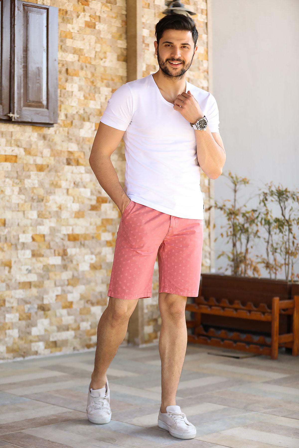 Pocket Detail Patterned Shorts