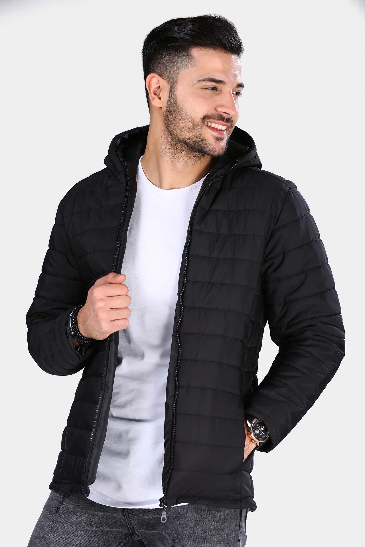 Men's Black Blown Coat