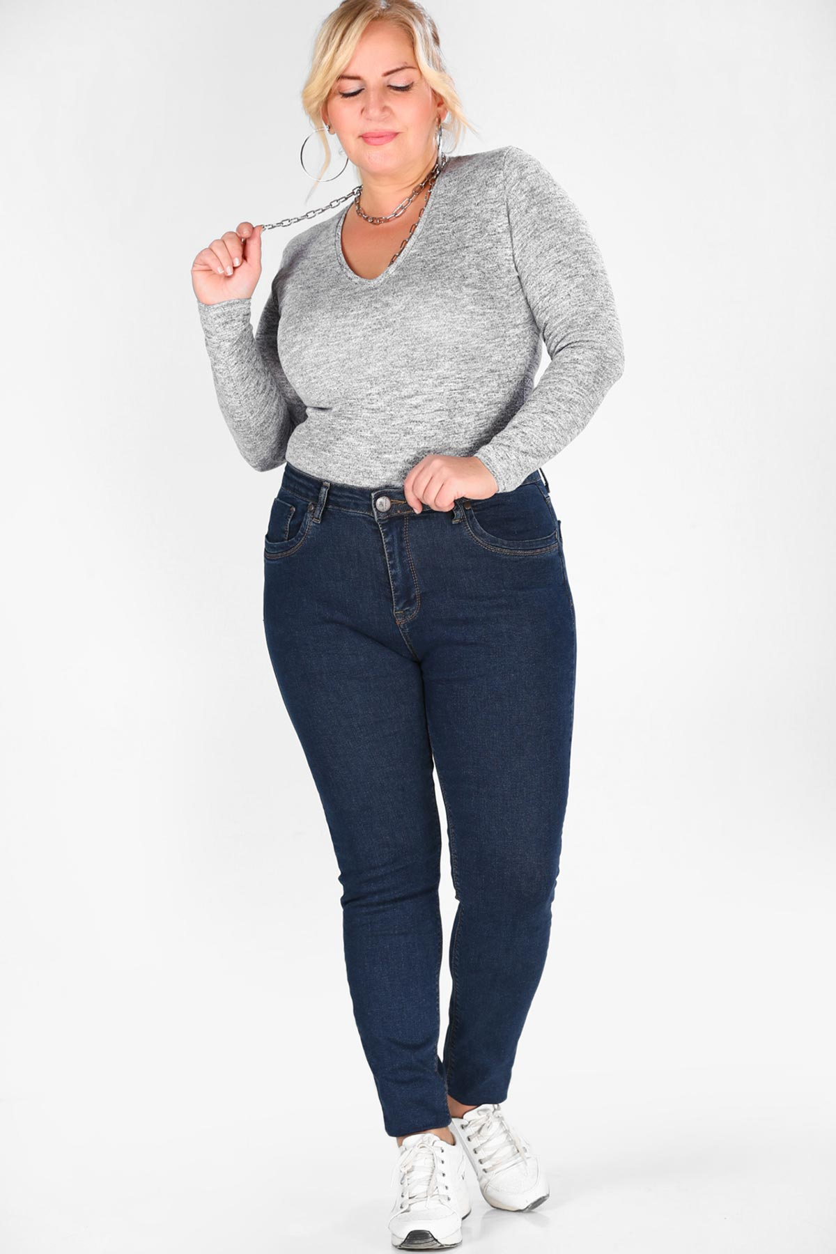 Oversize Dark Navy Blue Jeans