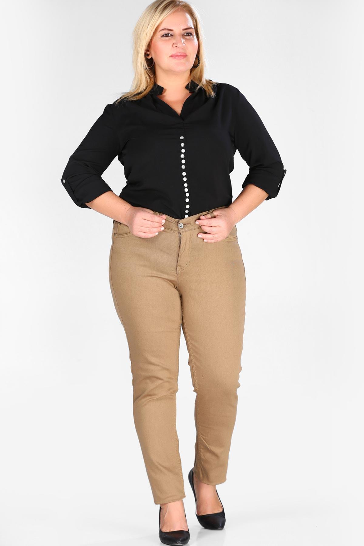 Oversize Zipped Camel Pants