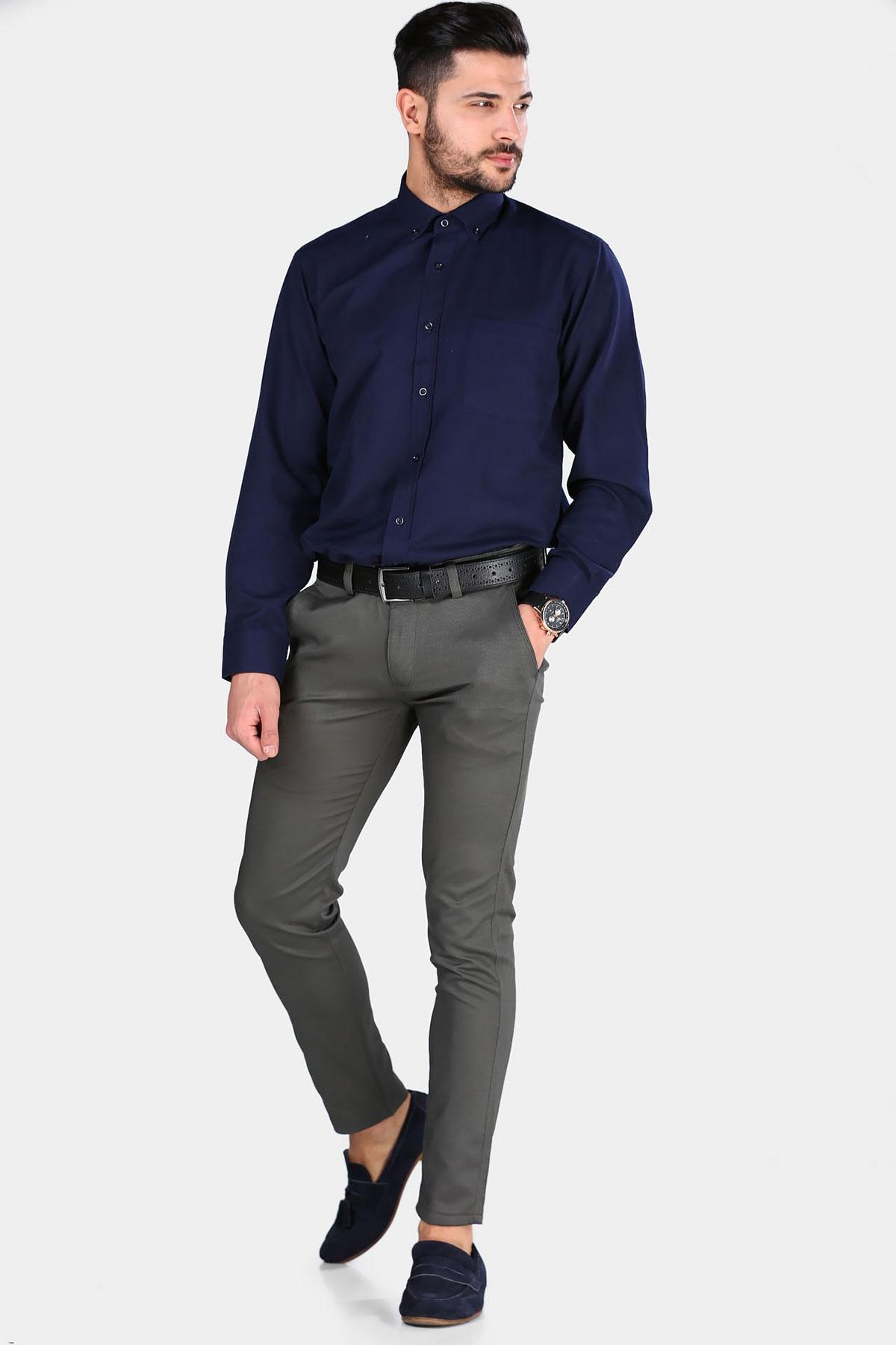 Men's Pocket Dark Green Pants