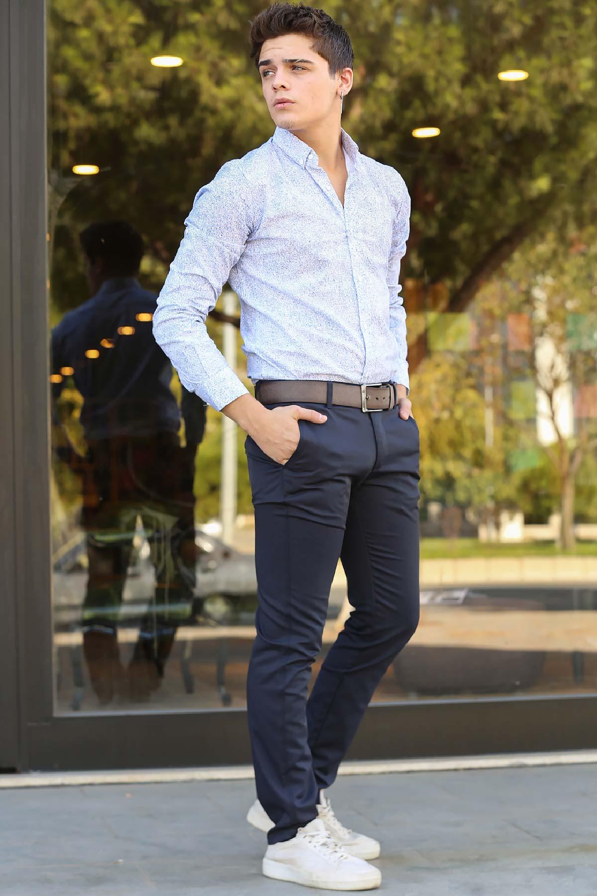Men's Navy Blue Pants