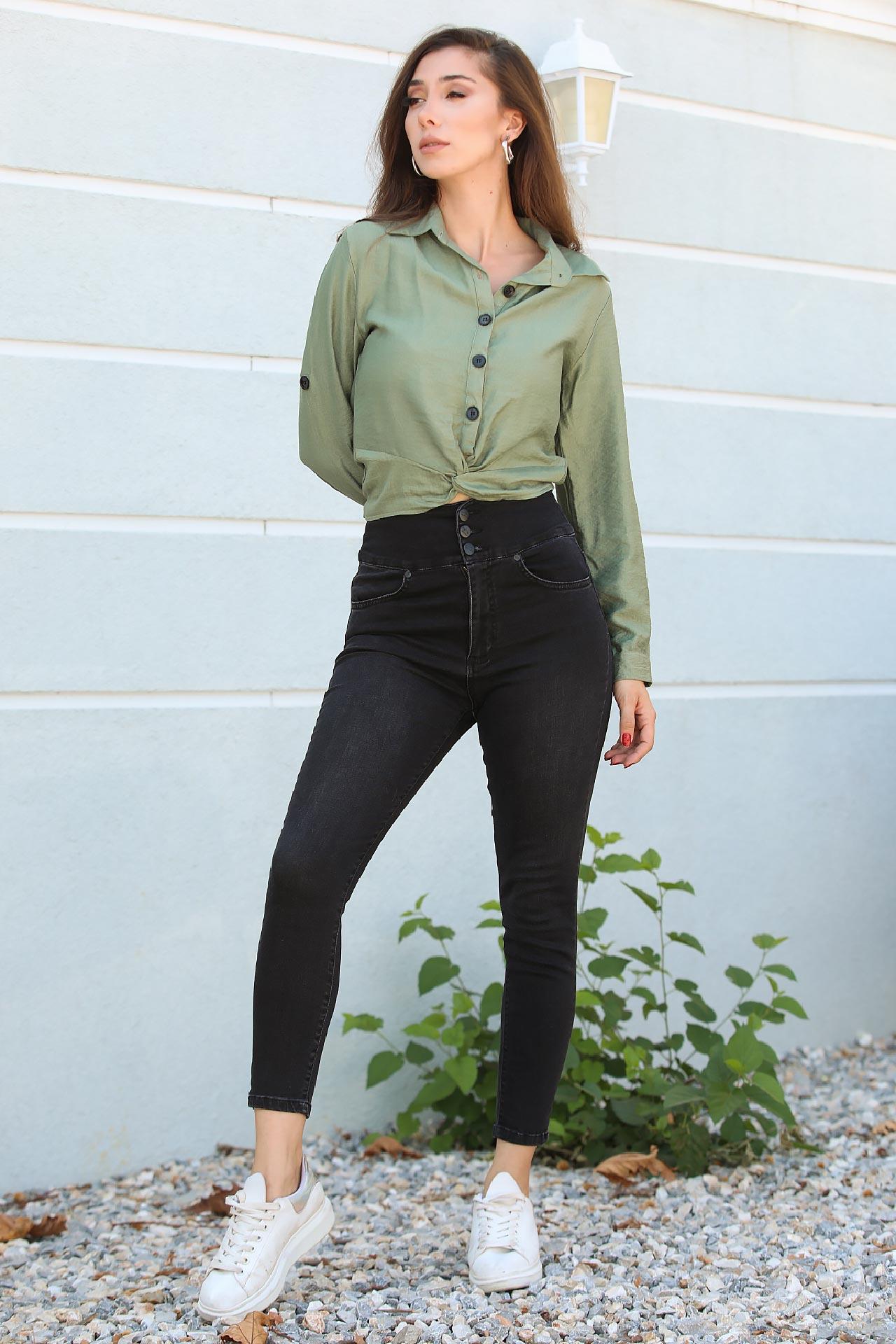 High Waist Black Skinny Jeans