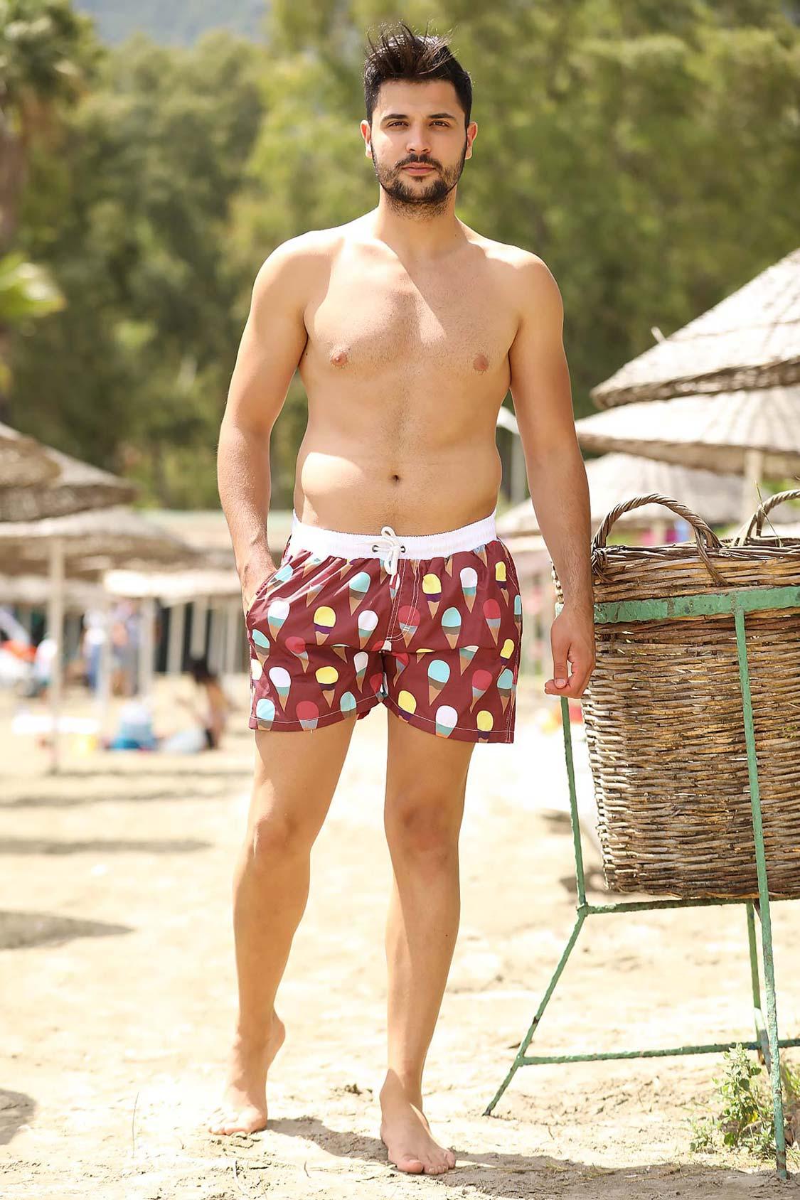 Claret Red Swim Shorts