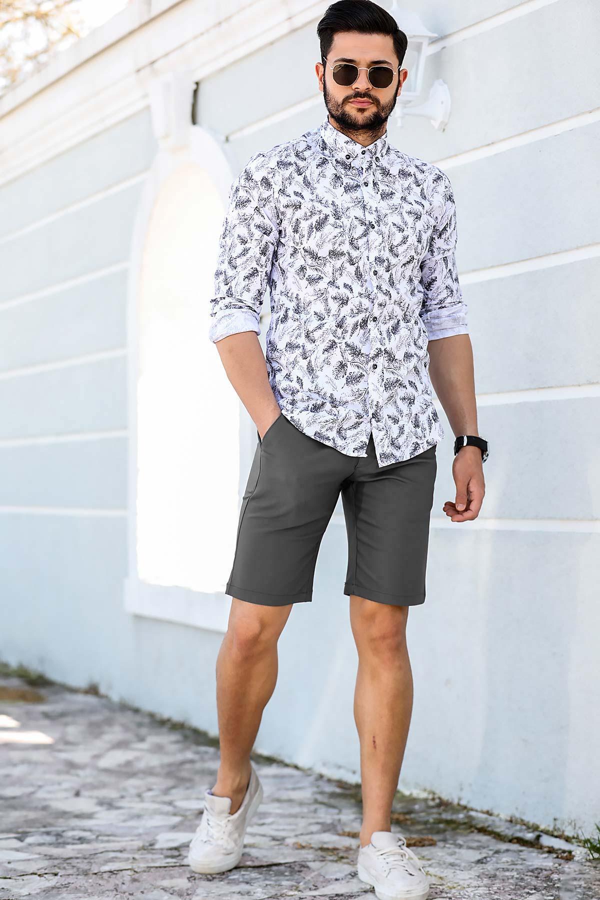 Men's Pocket Smoky Fabric Shorts