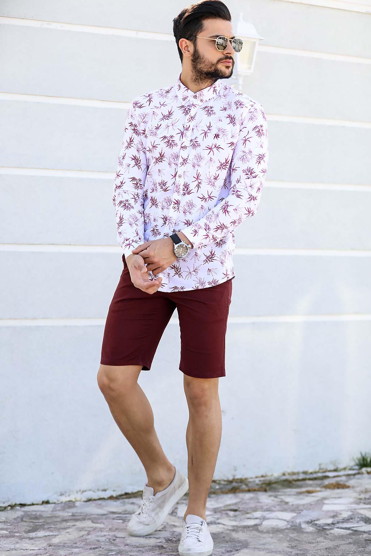 Men's Pocket Claret Red Shorts