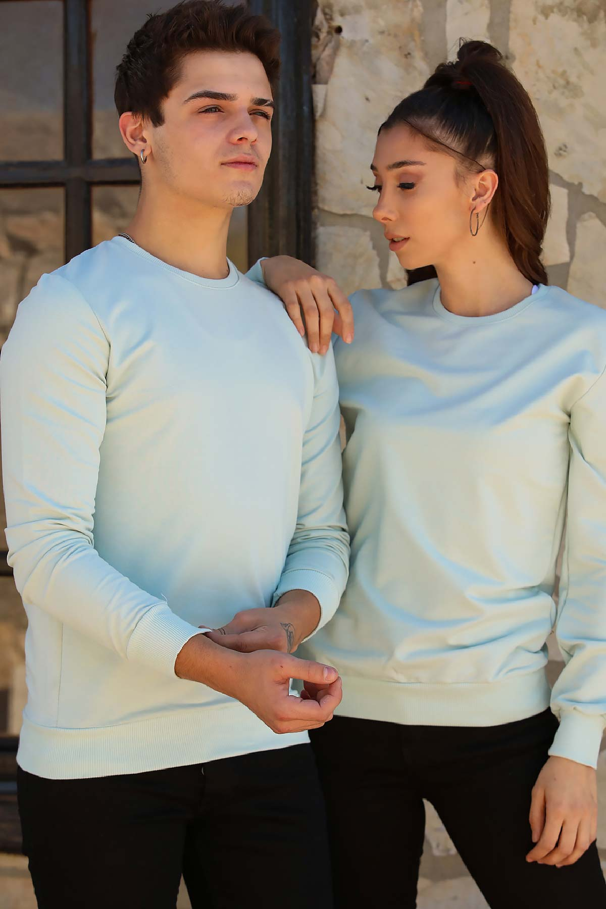 Men's Mint Green Sweater