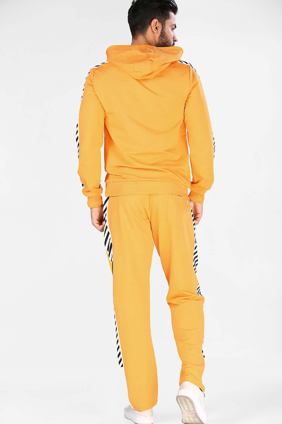 Men's Printed Yellow Sweat Suit