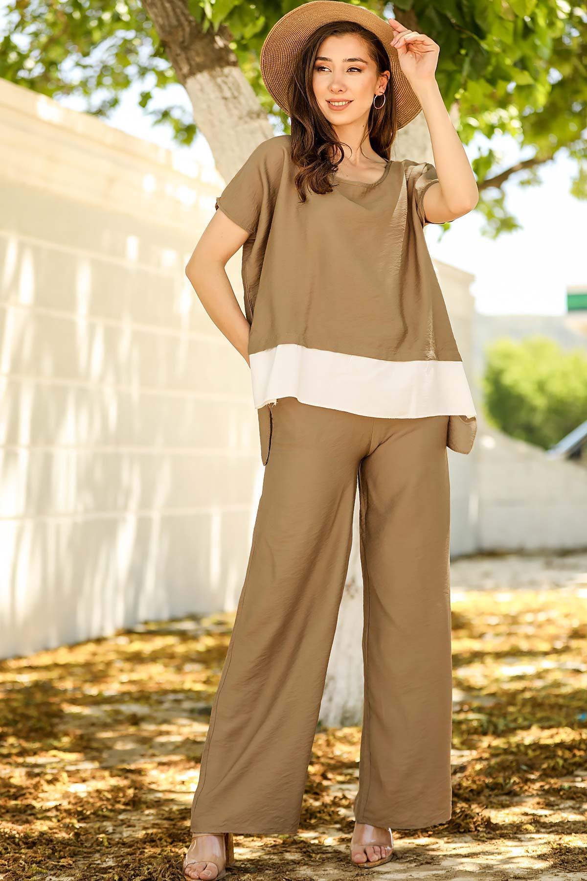 Women's Mink Blouse Pants Set