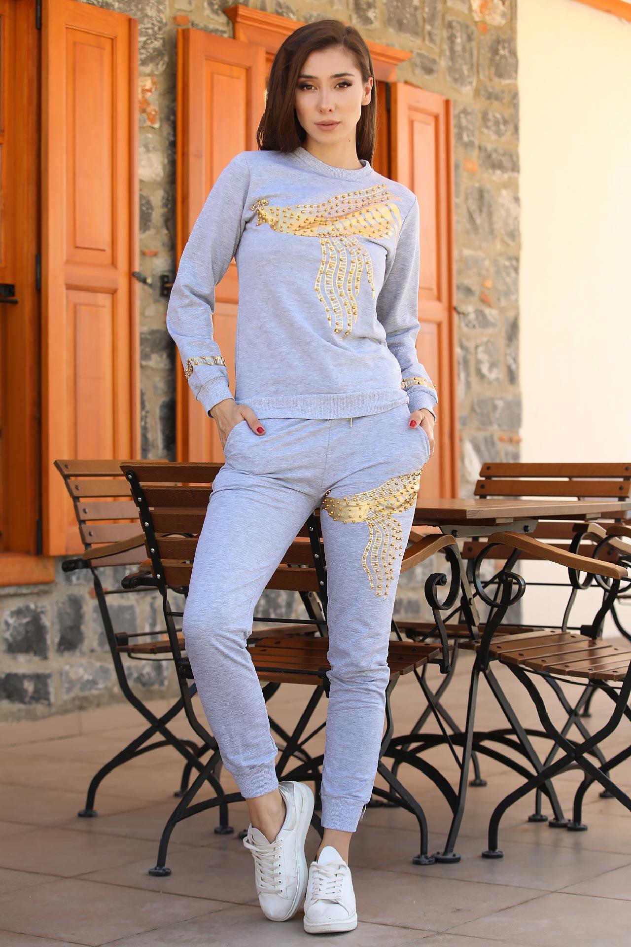 Women's Printed Sweat Suit