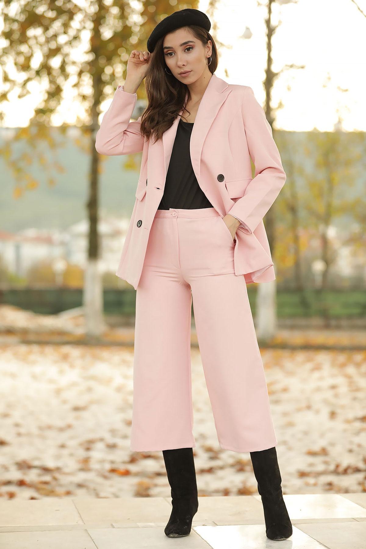 Women's Powder Rose Jacket Pants Set