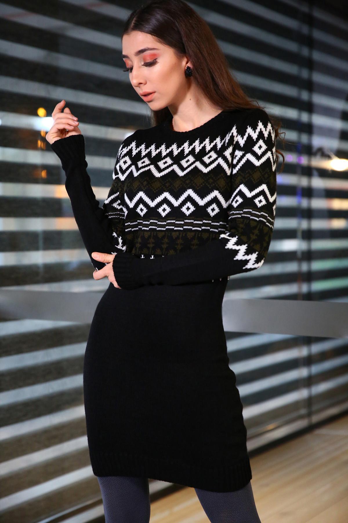 Patterned Tricot Tunic /Dress