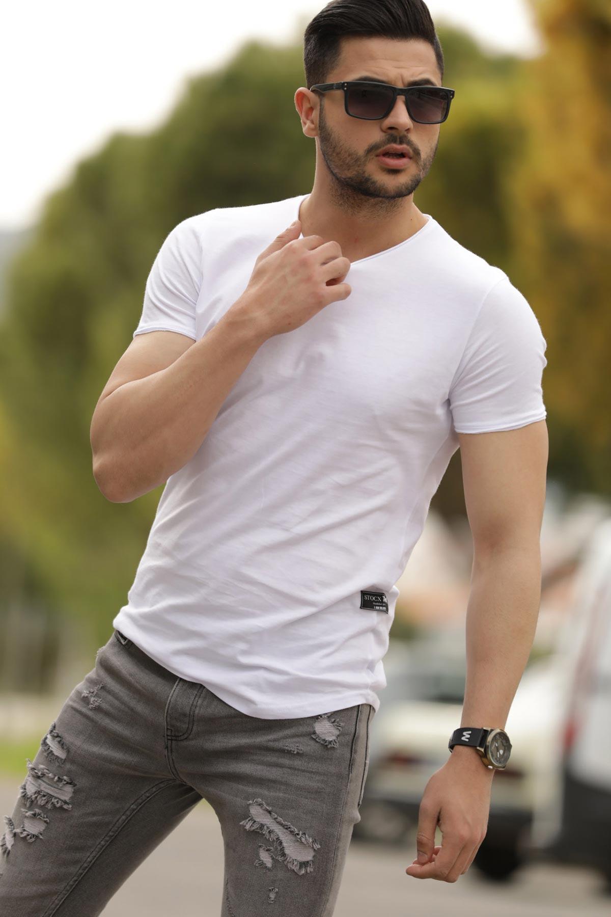Men's Basic White T-shirt
