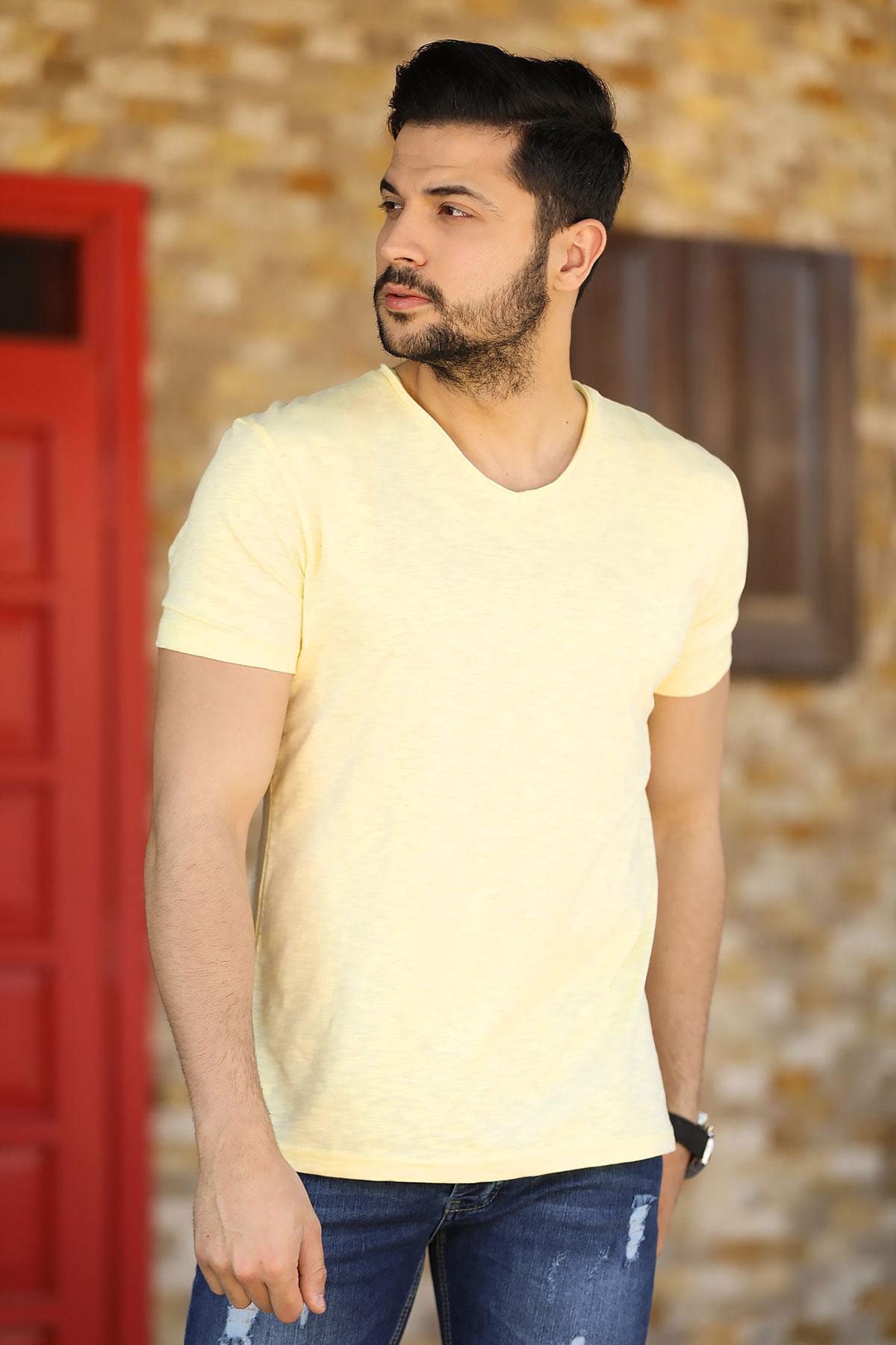 Men's Basic Yellow T-shirt
