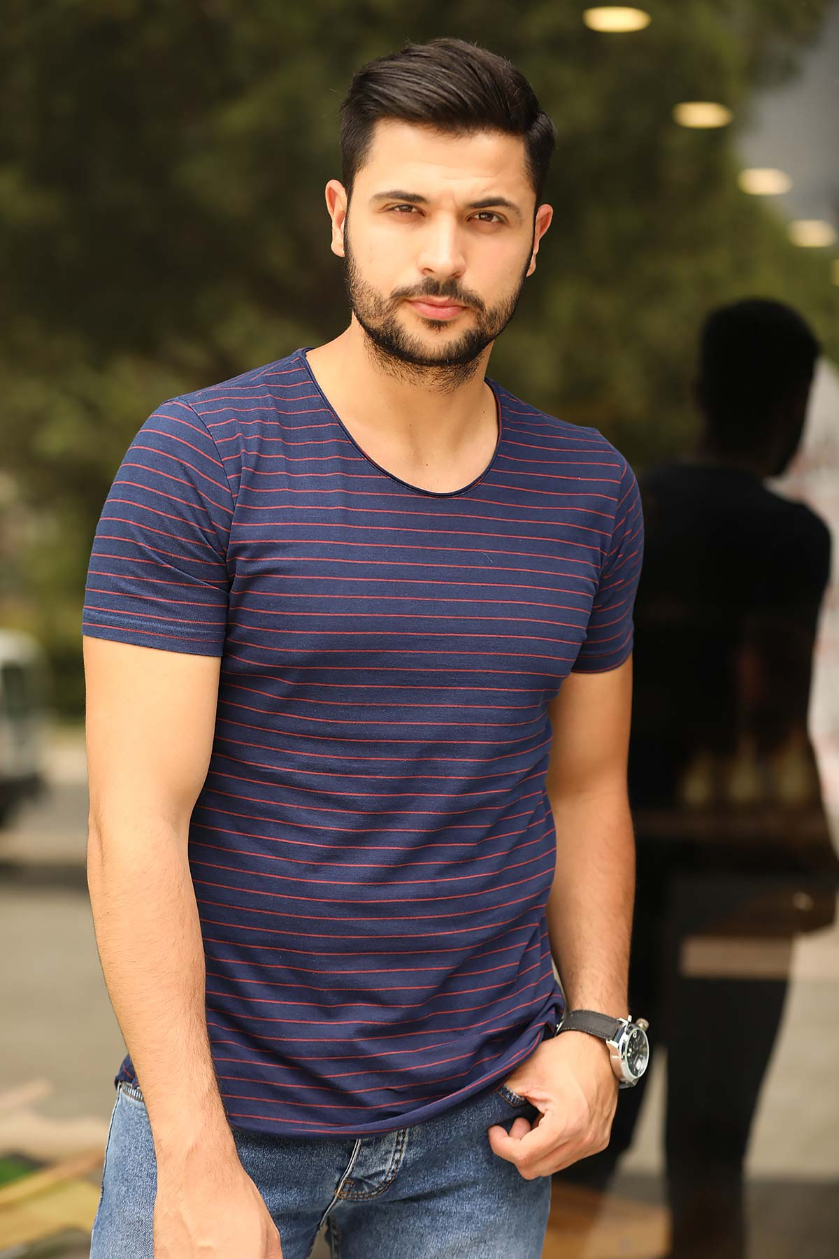 Striped Navy Blue T-shirt
