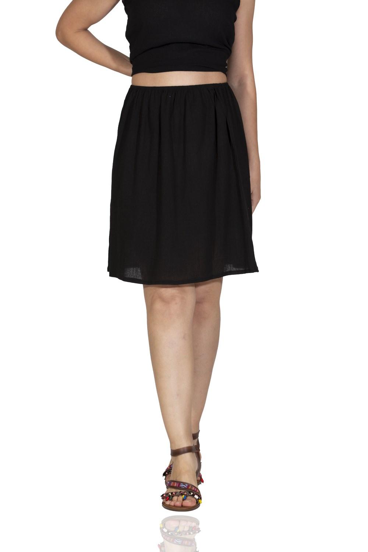 Women's Lined Black Short Skirt