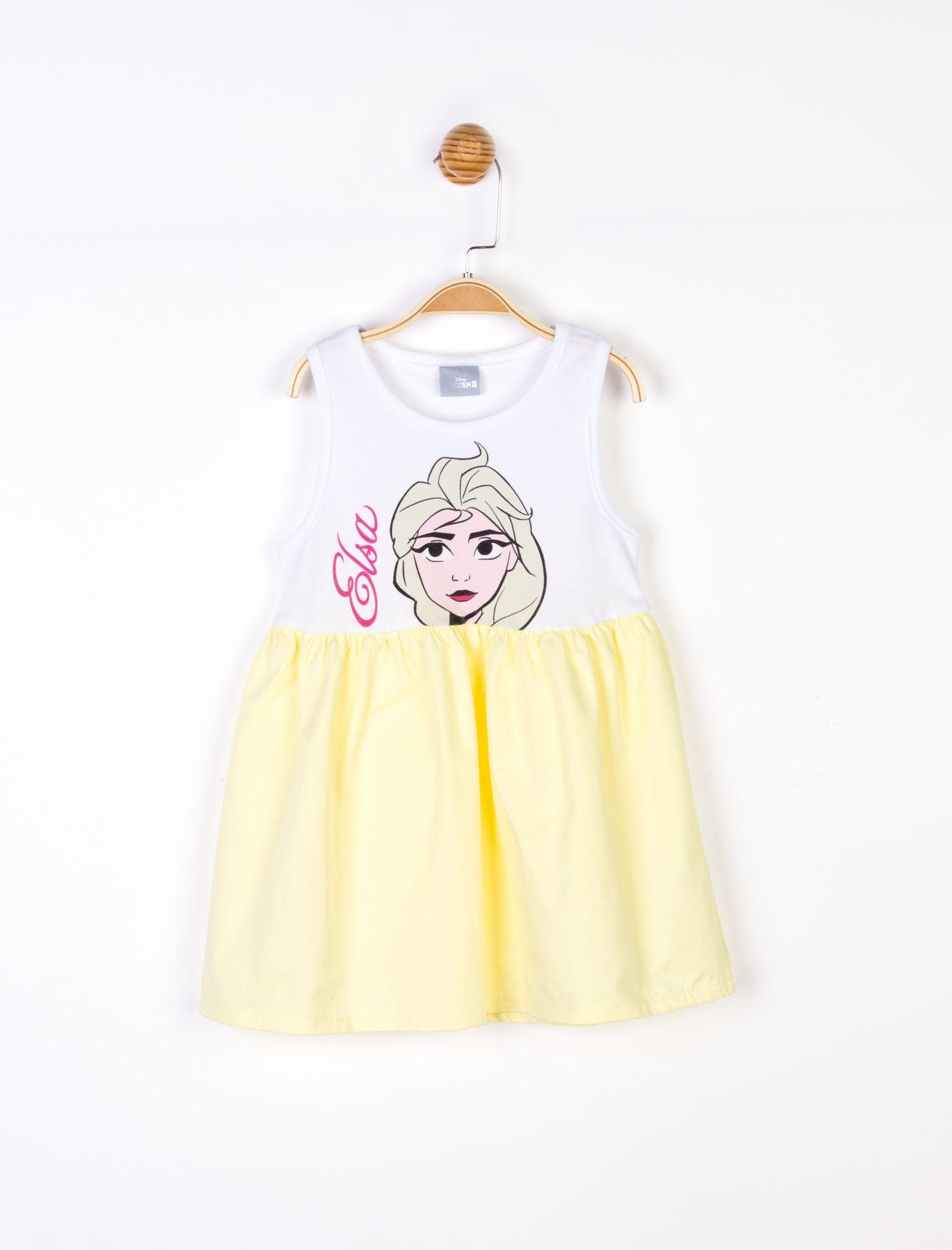 فستان بطبعة بدون أكمام بناتي
