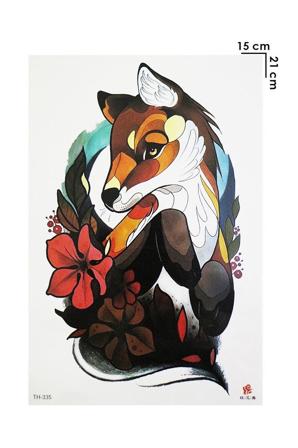 Fox Model Temporary Tattoo