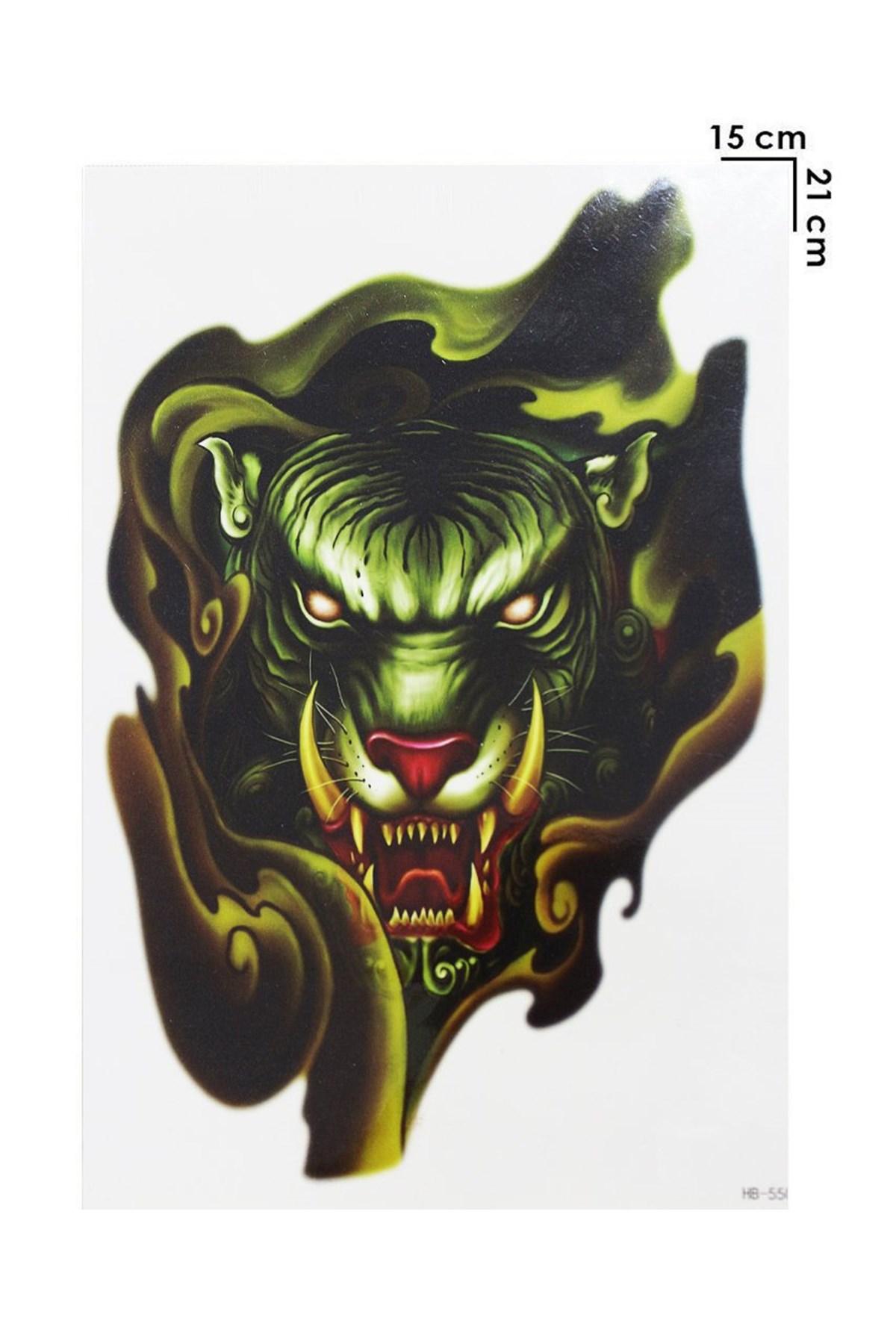 Tiger Model Temporary Tattoo