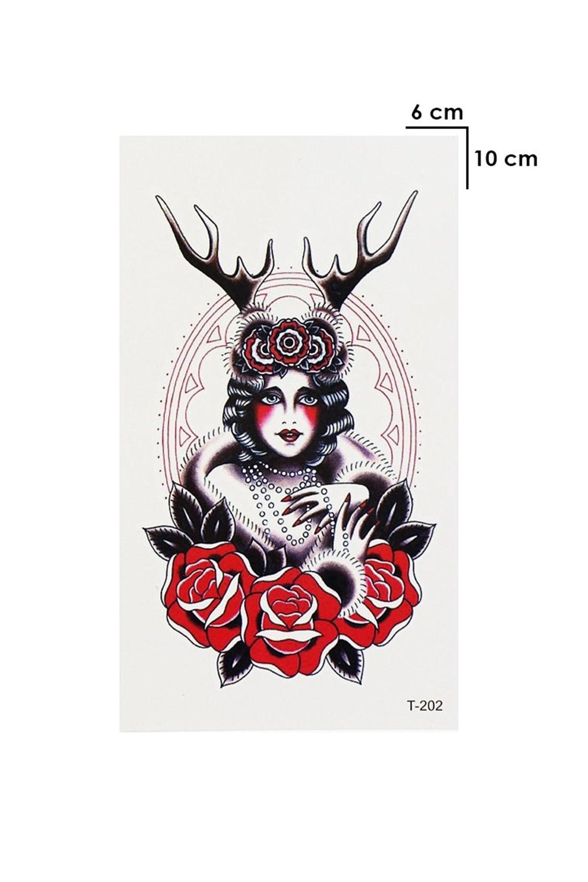 Mini Woman Model Temporary Tattoo