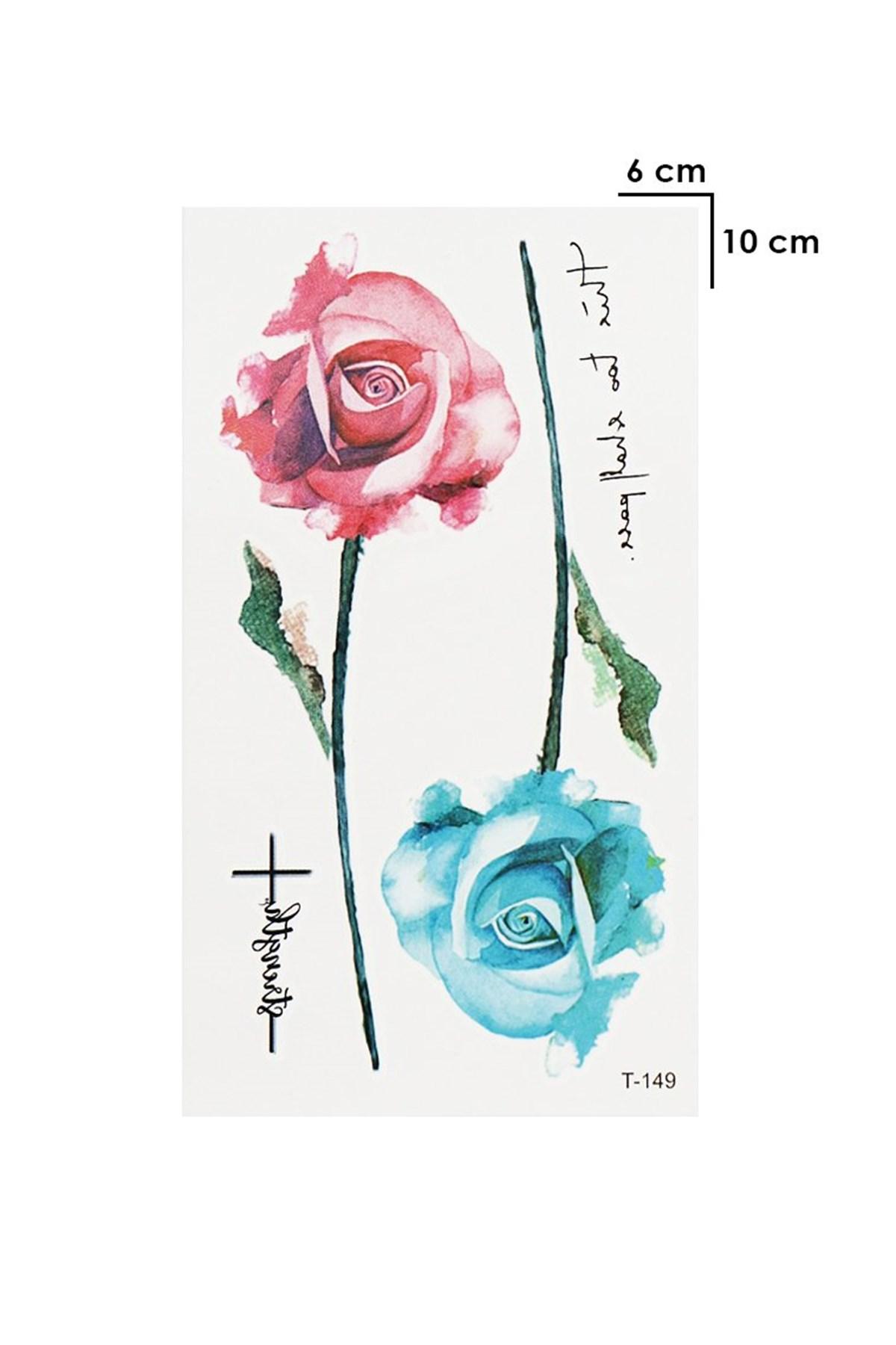 Temporary Rose Model Wrist Tattoo