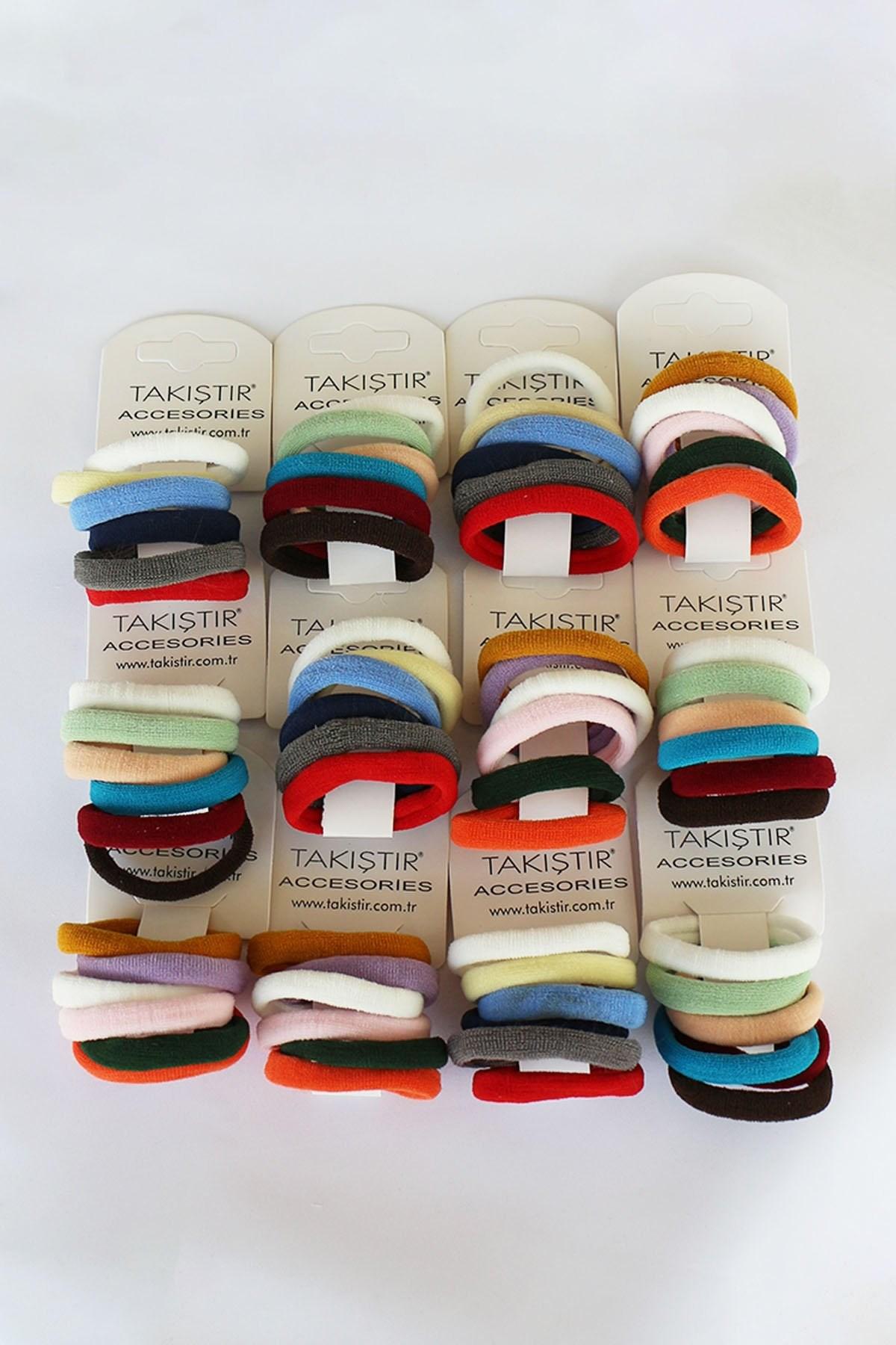 توكة شعر مرنة متعددة الألوان