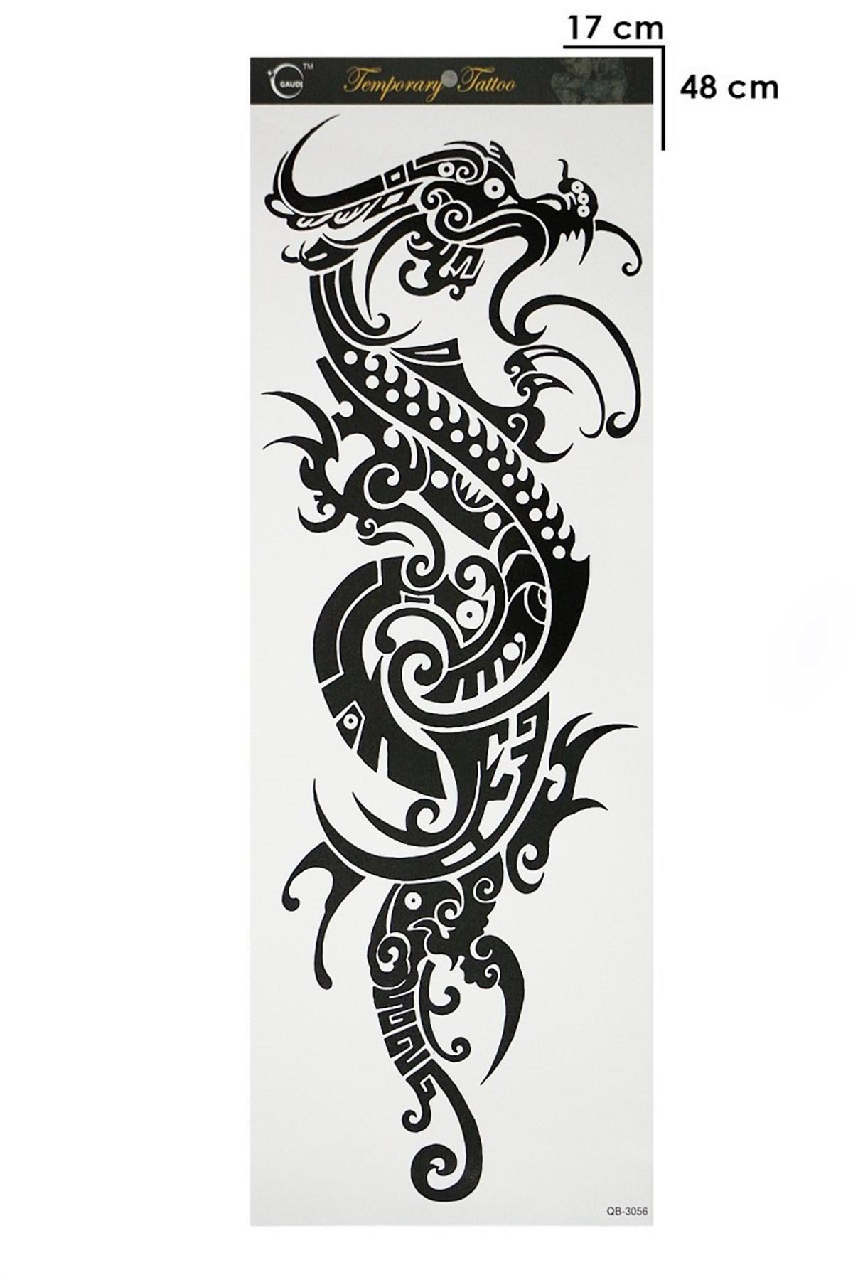 Dragon Model Temporary Arm Tattoo