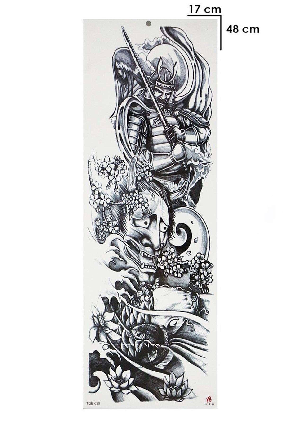 Warrior Model Temporary Arm Tattoo