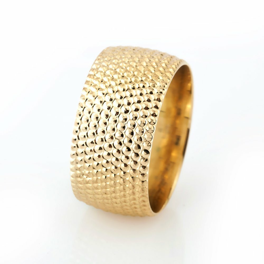 Women's Gold Plated 925 Carat Silver Wedding Ring