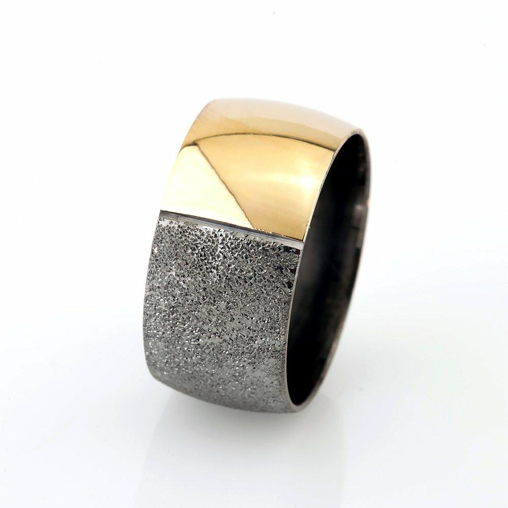 Women's Gold- Grey Color 925 Carat Silver Wedding Ring