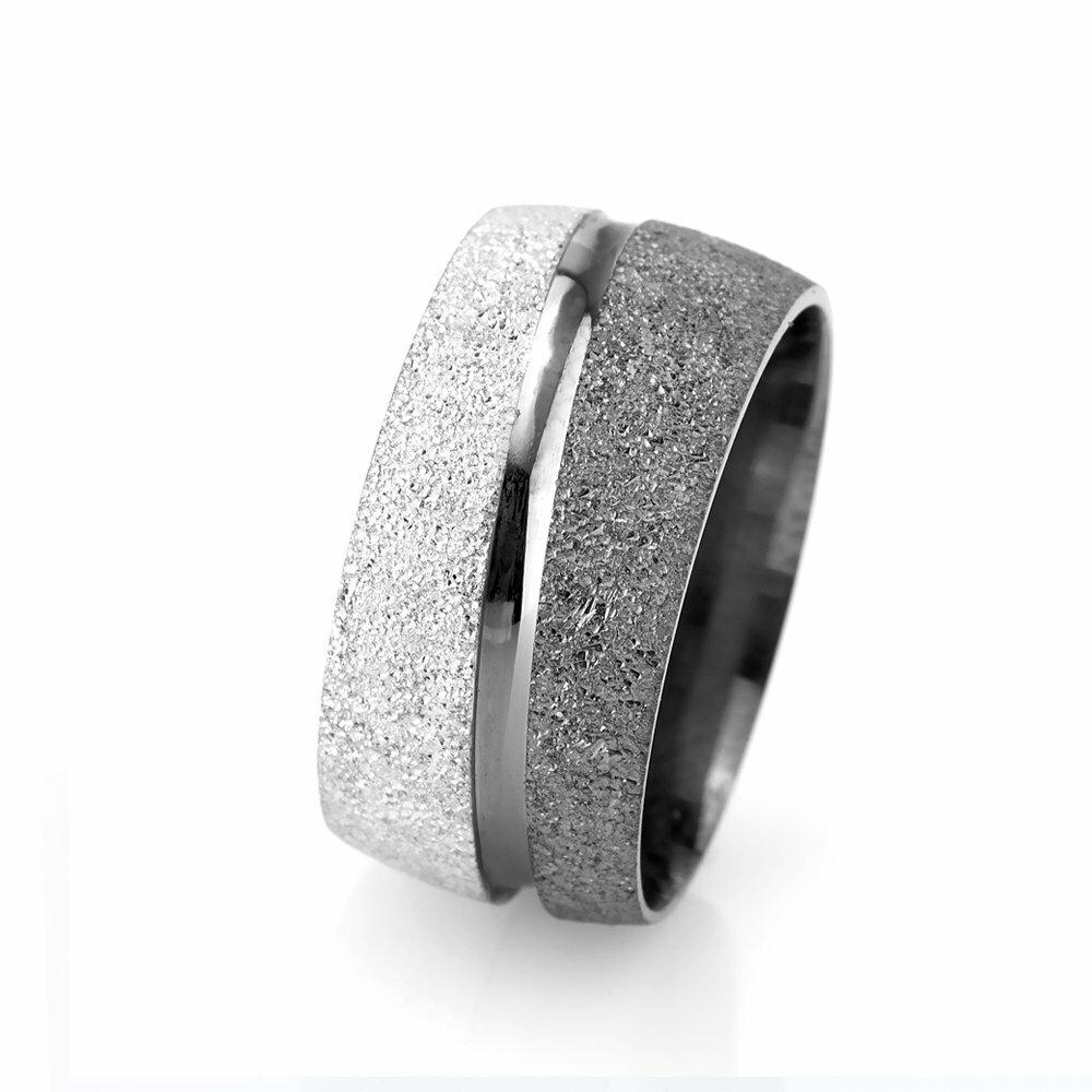Grey- White Color 925 Carat Silver Wedding Ring