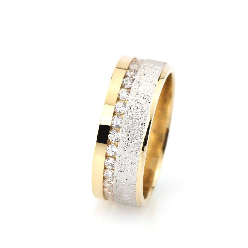 Shiny model Zircon Gemmed 925 Carat Silver Wedding Ring
