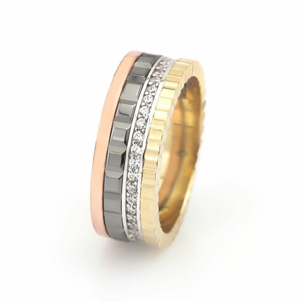 Zircon Gemmed Multi-color 925 Carat Silver Wedding Ring