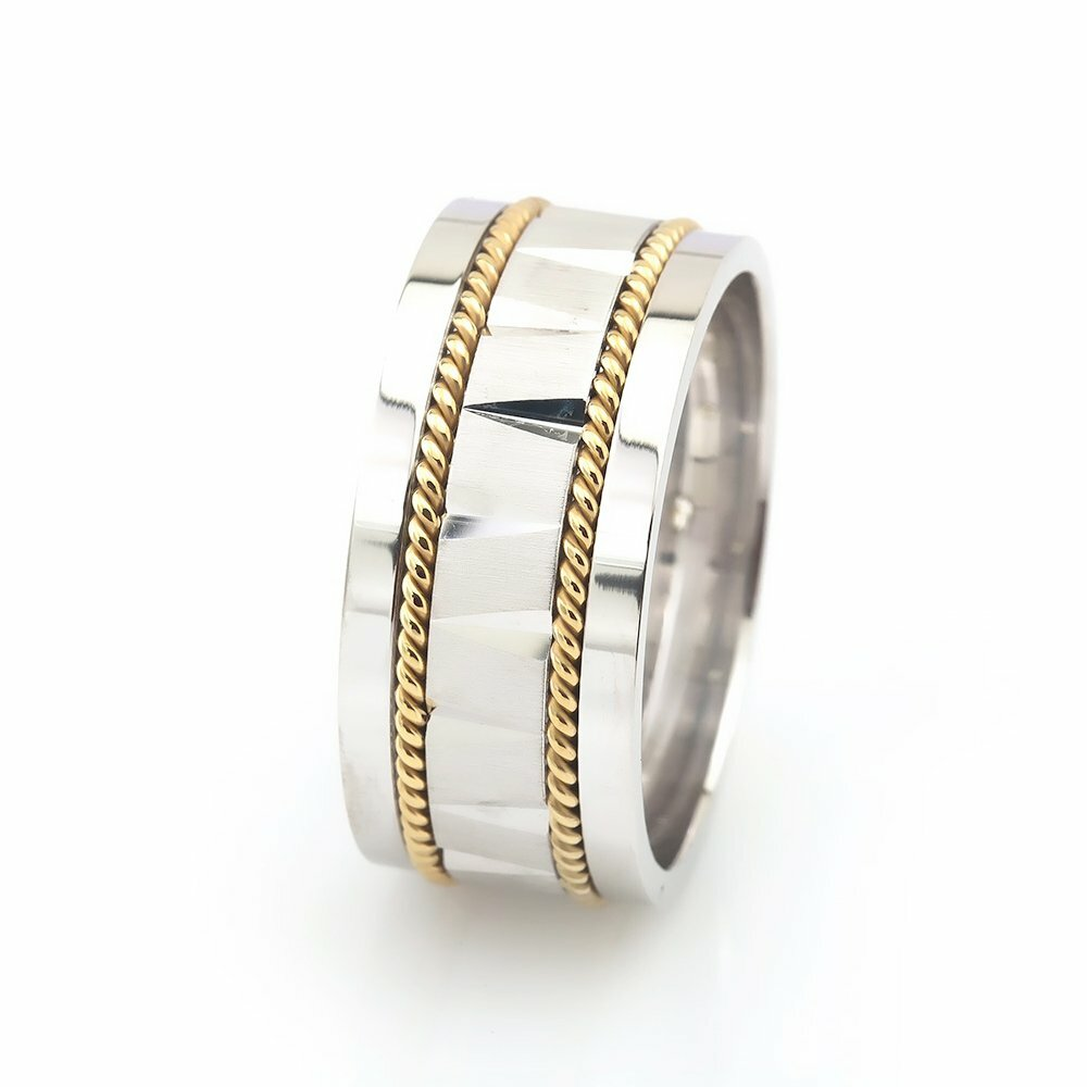 Men's Double Layer 925 Carat Silver Ring