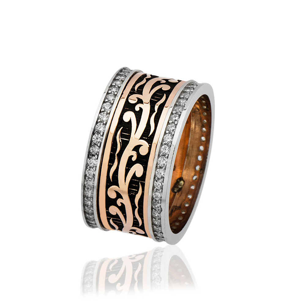 Women's Zircon Gemmed Classic 925 Carat Silver Wedding Silver